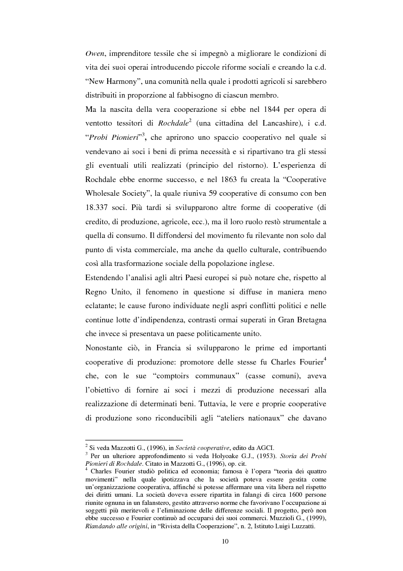 Anteprima della tesi: Gli aspetti economici dell'impresa cooperativa e le sue potenzialità di sviluppo nel Mezzogiorno: il caso della cooperativa ''Giustizia e libertà'', Pagina 6