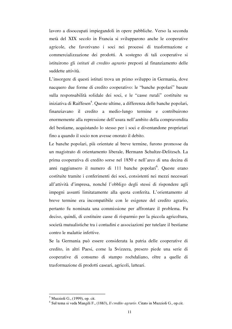 Anteprima della tesi: Gli aspetti economici dell'impresa cooperativa e le sue potenzialità di sviluppo nel Mezzogiorno: il caso della cooperativa ''Giustizia e libertà'', Pagina 7