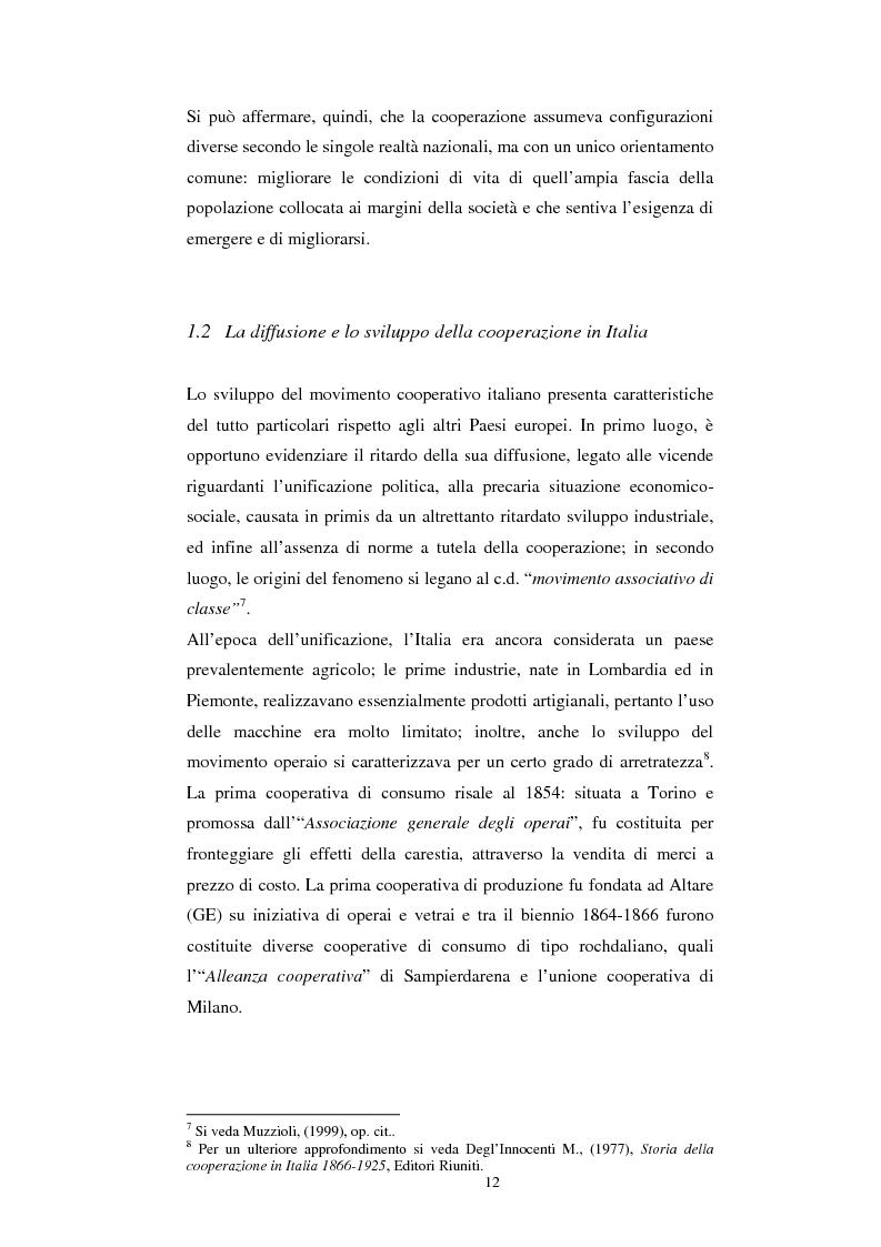 Anteprima della tesi: Gli aspetti economici dell'impresa cooperativa e le sue potenzialità di sviluppo nel Mezzogiorno: il caso della cooperativa ''Giustizia e libertà'', Pagina 8