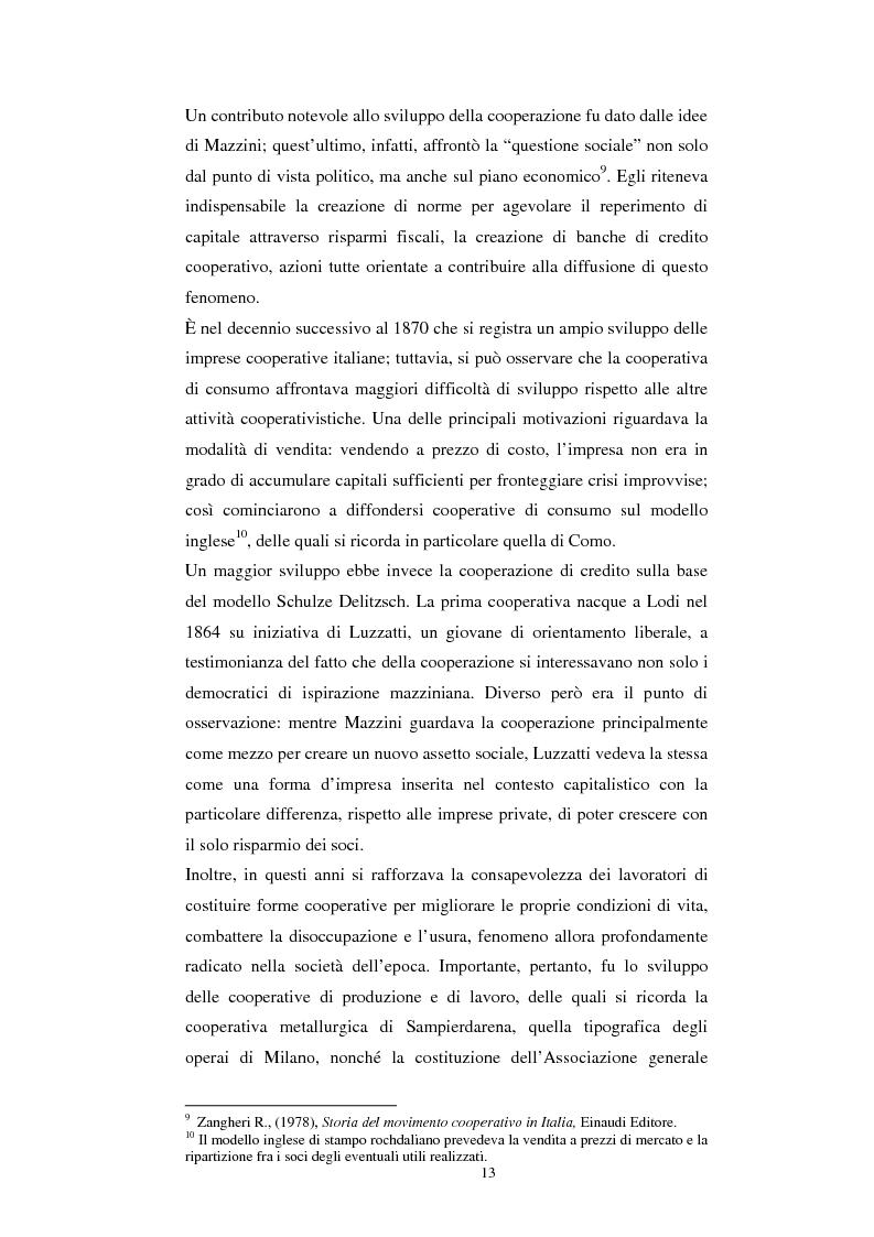 Anteprima della tesi: Gli aspetti economici dell'impresa cooperativa e le sue potenzialità di sviluppo nel Mezzogiorno: il caso della cooperativa ''Giustizia e libertà'', Pagina 9