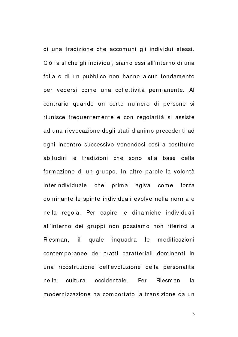 Anteprima della tesi: Tifo e tifosi. Il panorama ultras, Pagina 6