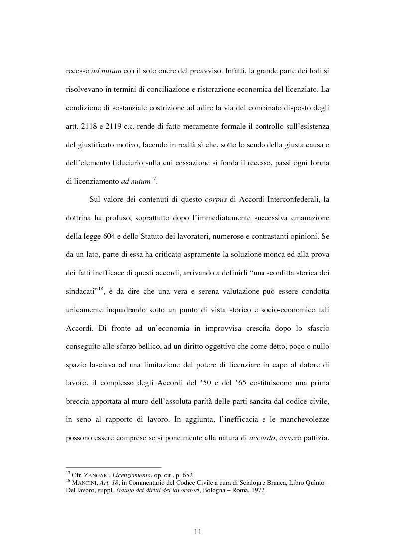 Anteprima della tesi: Licenziamento illegittimo e tutela reale. Aspetti di diritto comparato, Pagina 12