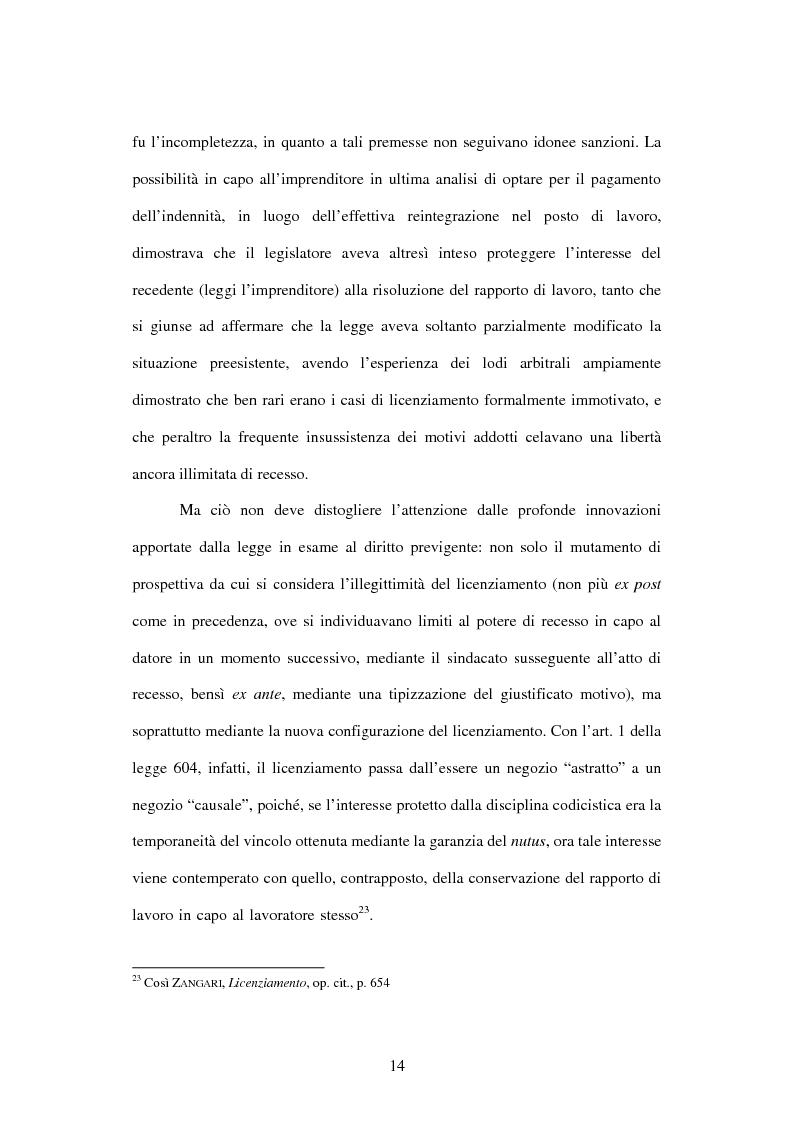 Anteprima della tesi: Licenziamento illegittimo e tutela reale. Aspetti di diritto comparato, Pagina 15