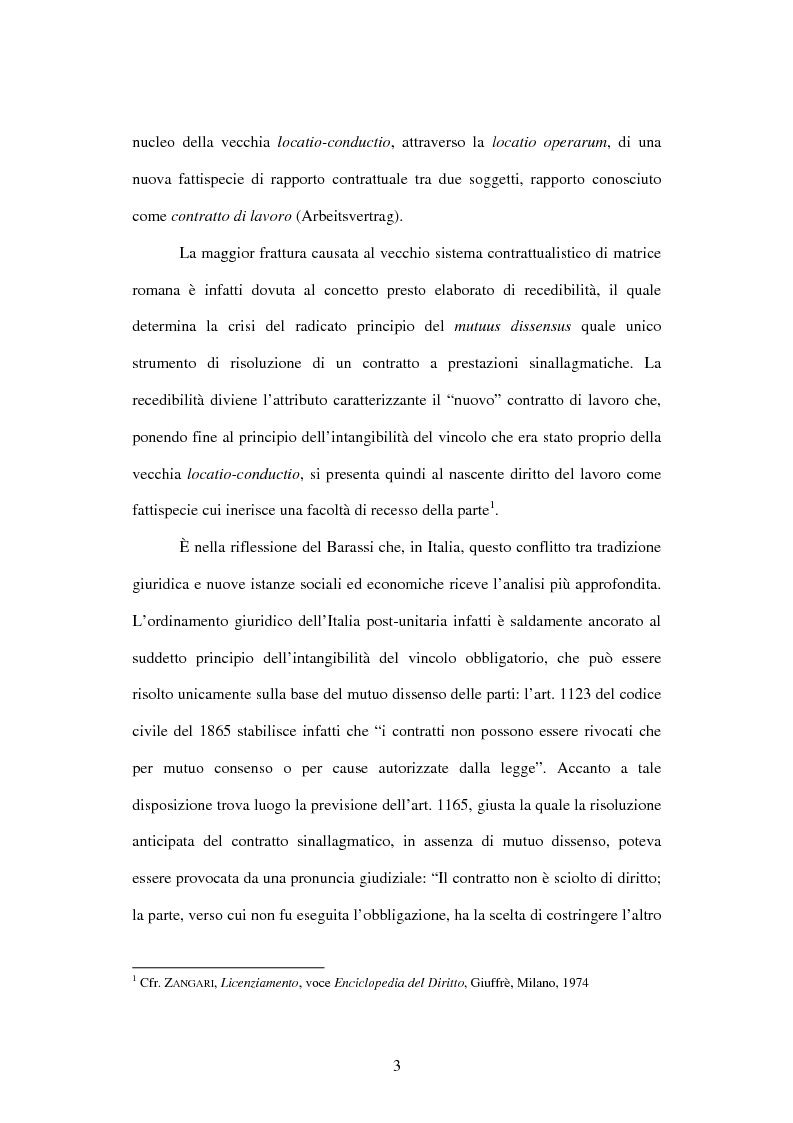Anteprima della tesi: Licenziamento illegittimo e tutela reale. Aspetti di diritto comparato, Pagina 4