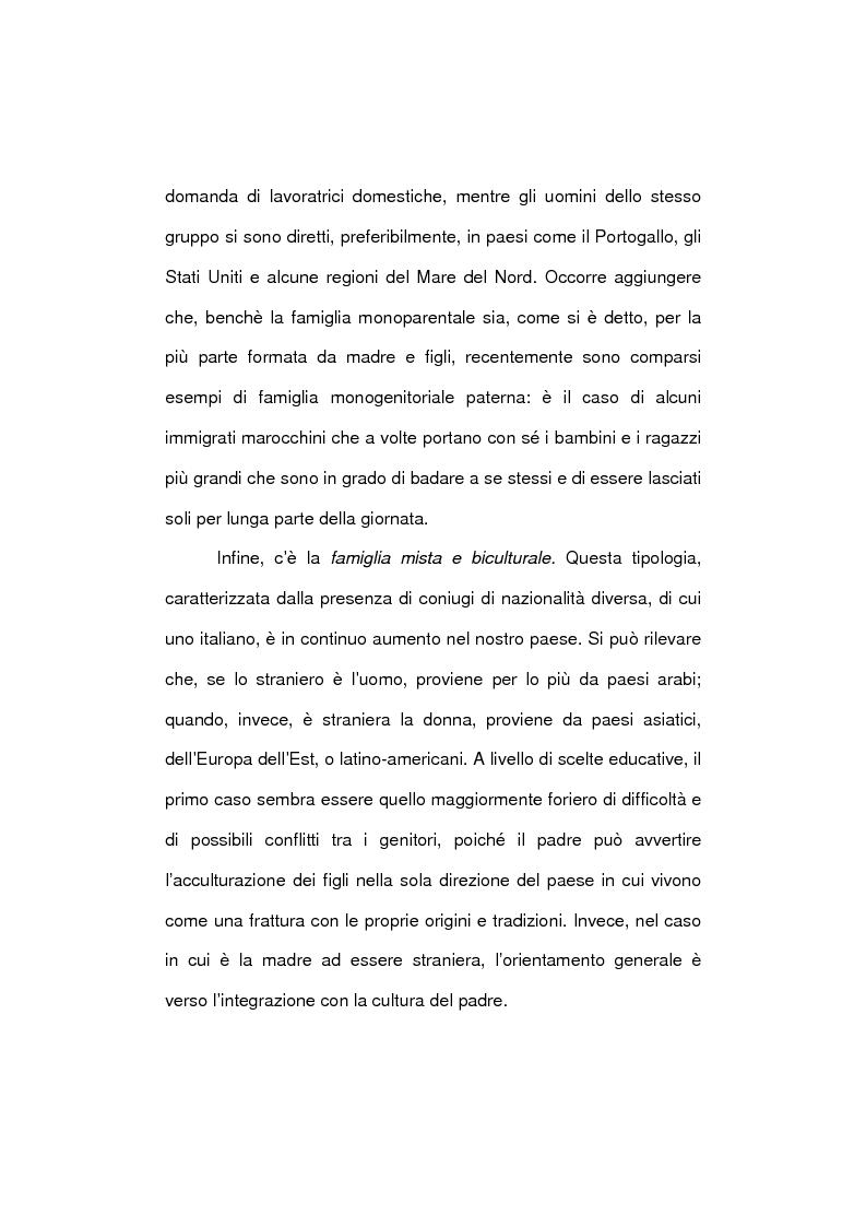 Anteprima della tesi: Le famiglie immigrate in Italia: caratteristiche, bisogni ed elementi di novità, Pagina 14