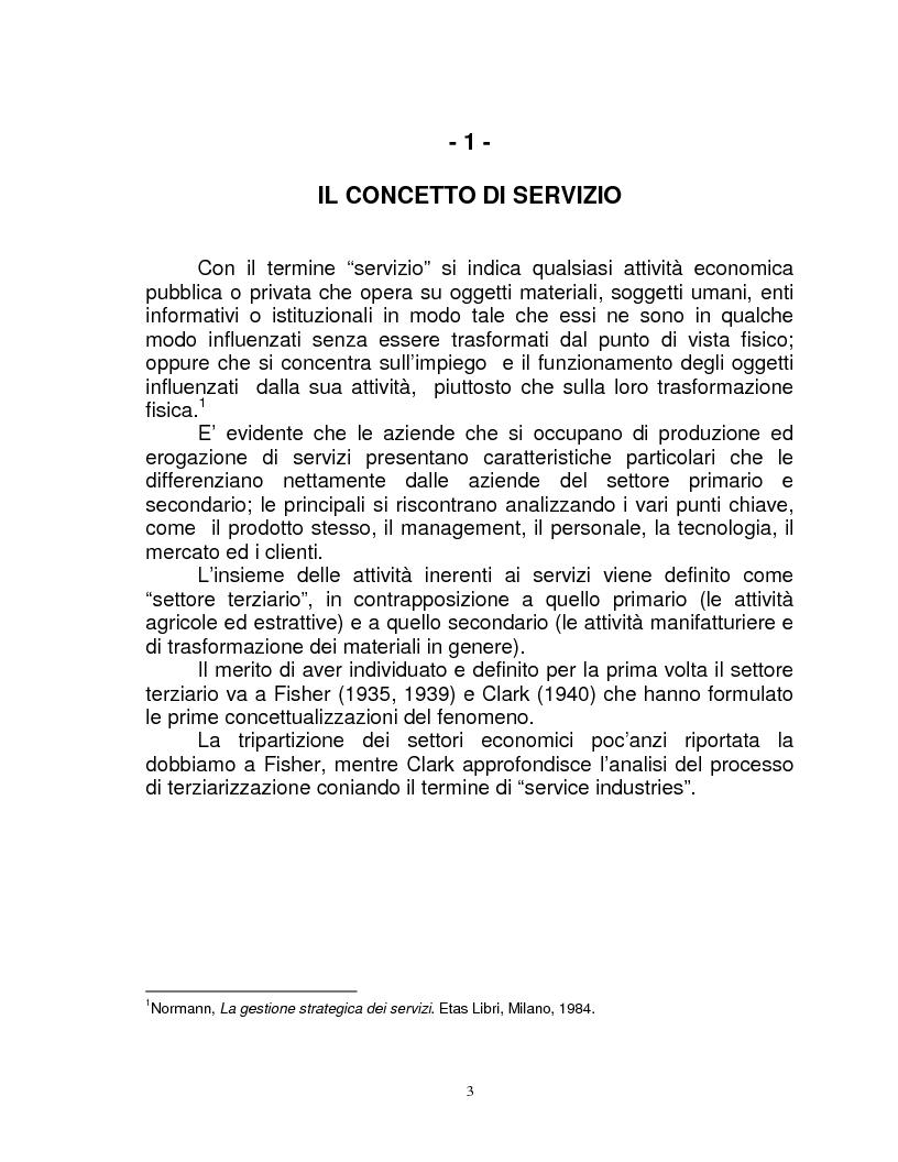 Anteprima della tesi: Organizzazione e gestione del personale nelle aziende private di servizi, Pagina 1