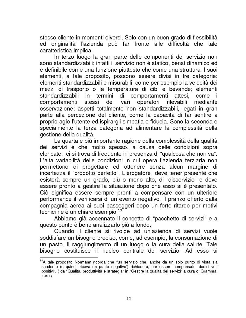 Anteprima della tesi: Organizzazione e gestione del personale nelle aziende private di servizi, Pagina 10