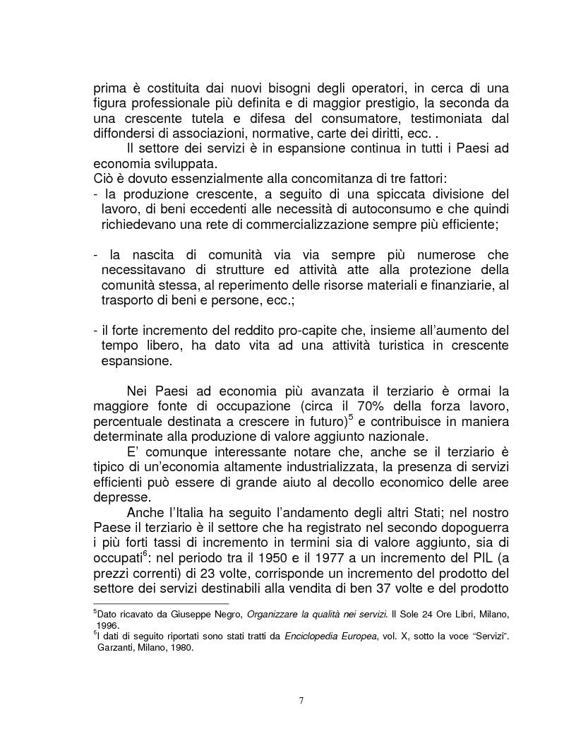 Anteprima della tesi: Organizzazione e gestione del personale nelle aziende private di servizi, Pagina 5