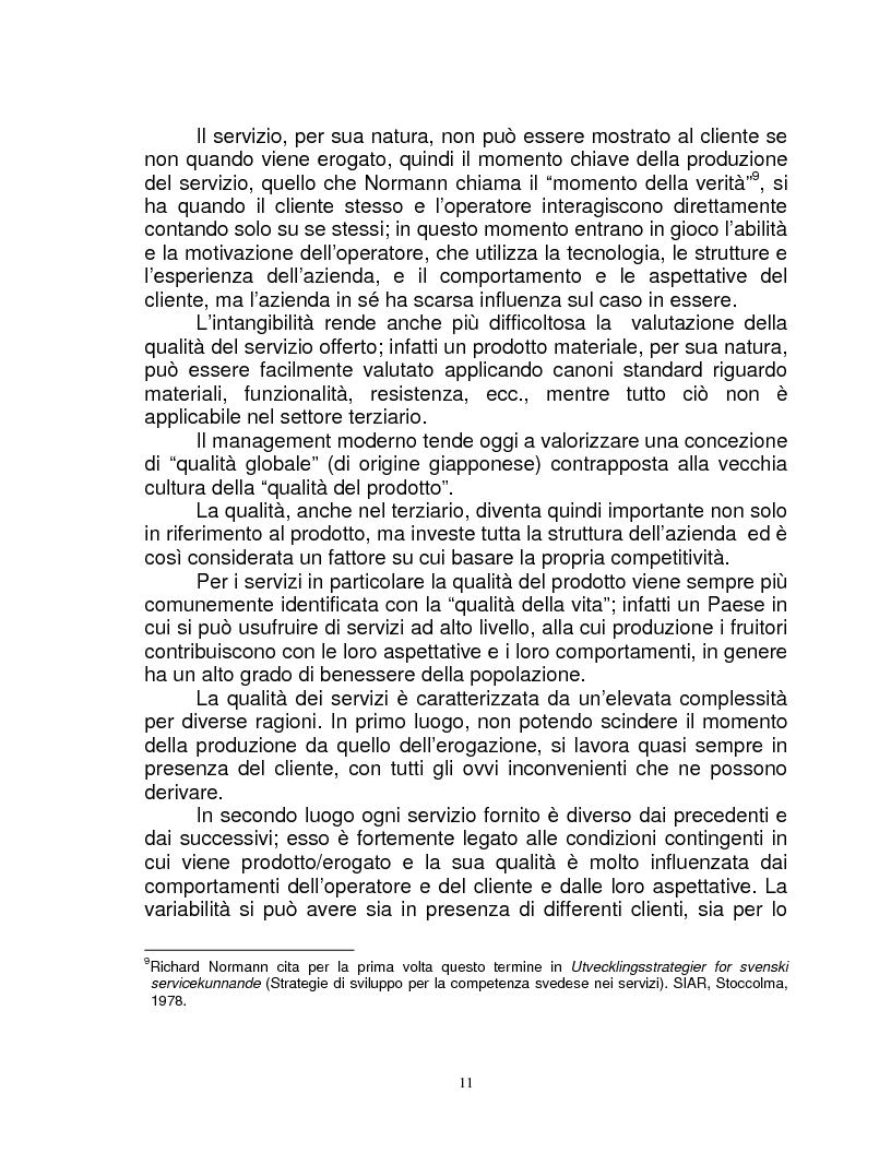 Anteprima della tesi: Organizzazione e gestione del personale nelle aziende private di servizi, Pagina 9