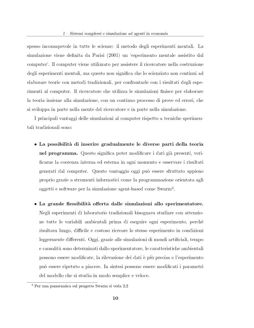 Anteprima della tesi: Simulazione agent based in contesti d'impresa. Applicazione del modello Virtual Enterprise in JavaSwarm ad un'azienda reale, Pagina 10