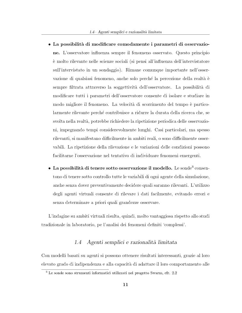 Anteprima della tesi: Simulazione agent based in contesti d'impresa. Applicazione del modello Virtual Enterprise in JavaSwarm ad un'azienda reale, Pagina 11