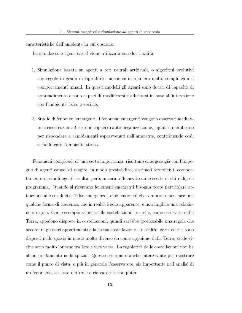 Anteprima della tesi: Simulazione agent based in contesti d'impresa. Applicazione del modello Virtual Enterprise in JavaSwarm ad un'azienda reale, Pagina 12