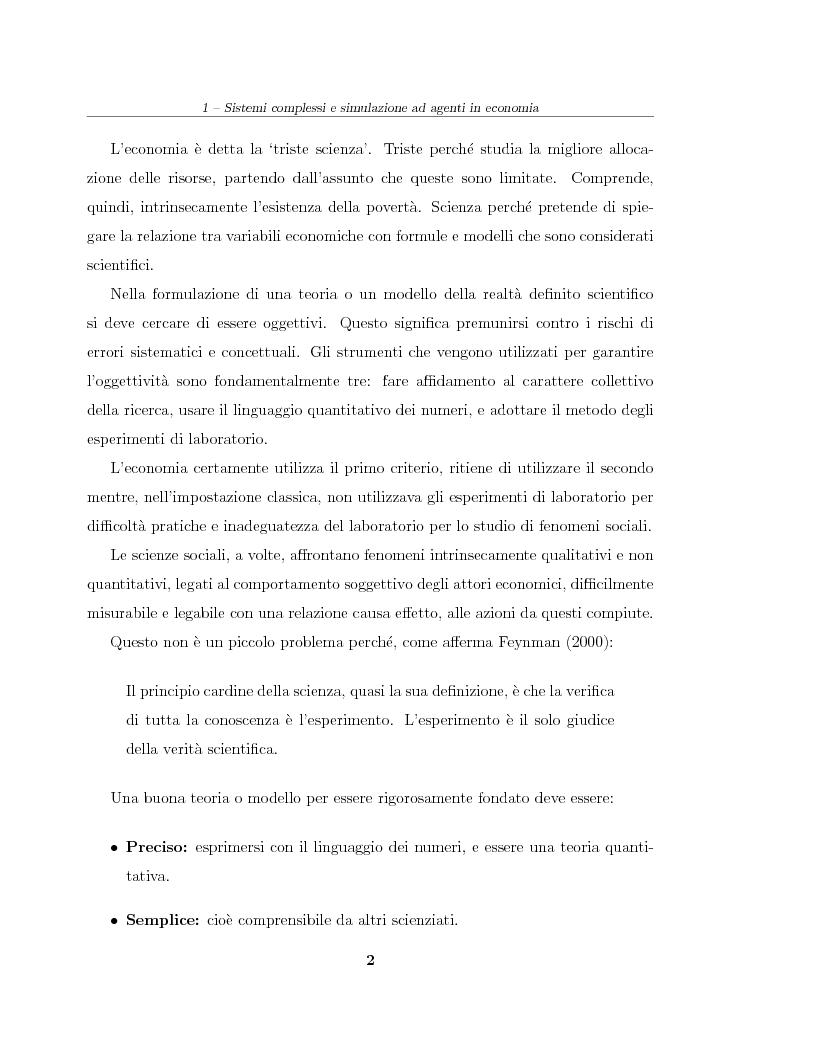 Anteprima della tesi: Simulazione agent based in contesti d'impresa. Applicazione del modello Virtual Enterprise in JavaSwarm ad un'azienda reale, Pagina 2