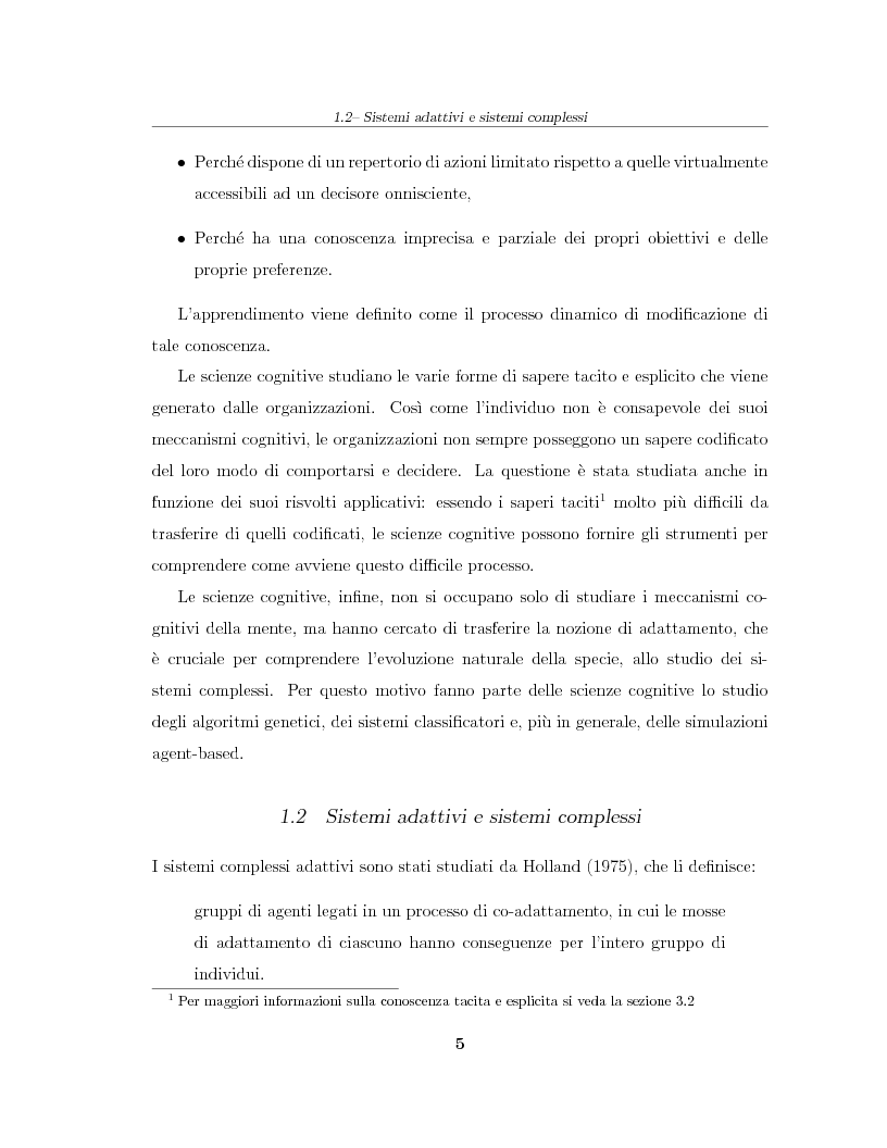 Anteprima della tesi: Simulazione agent based in contesti d'impresa. Applicazione del modello Virtual Enterprise in JavaSwarm ad un'azienda reale, Pagina 5