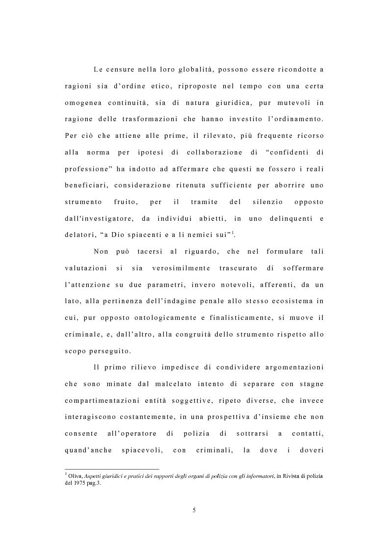 Anteprima della tesi: I confidenti della polizia, Pagina 2