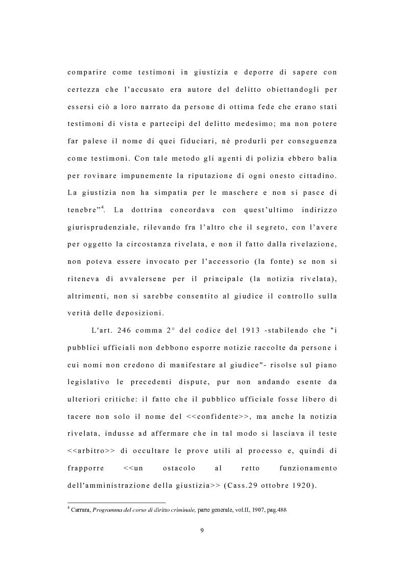 Anteprima della tesi: I confidenti della polizia, Pagina 6