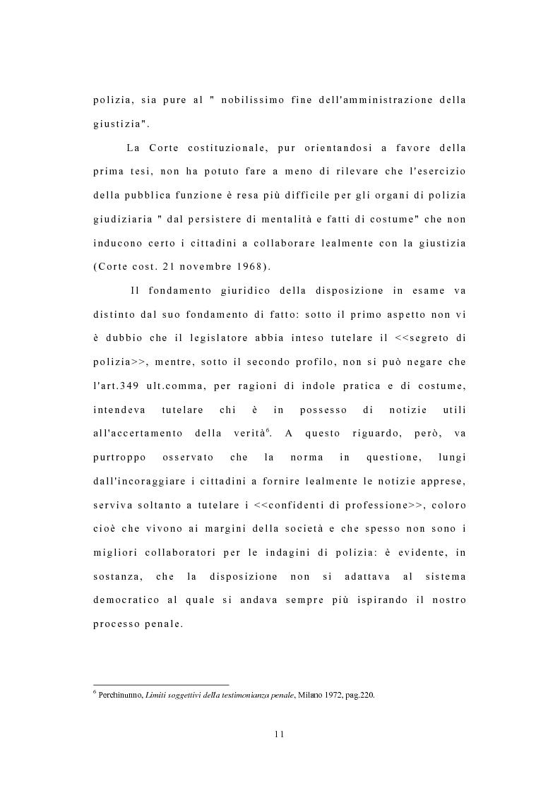 Anteprima della tesi: I confidenti della polizia, Pagina 8