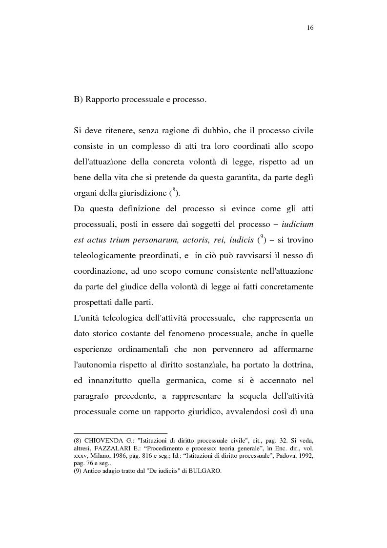 Anteprima della tesi: La pregiudizialità tra le questioni del processo, Pagina 9