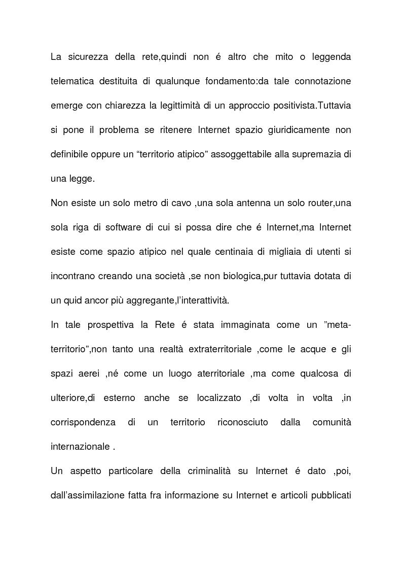 Anteprima della tesi: La criminalità informatica: cyberterrorismo, Pagina 10