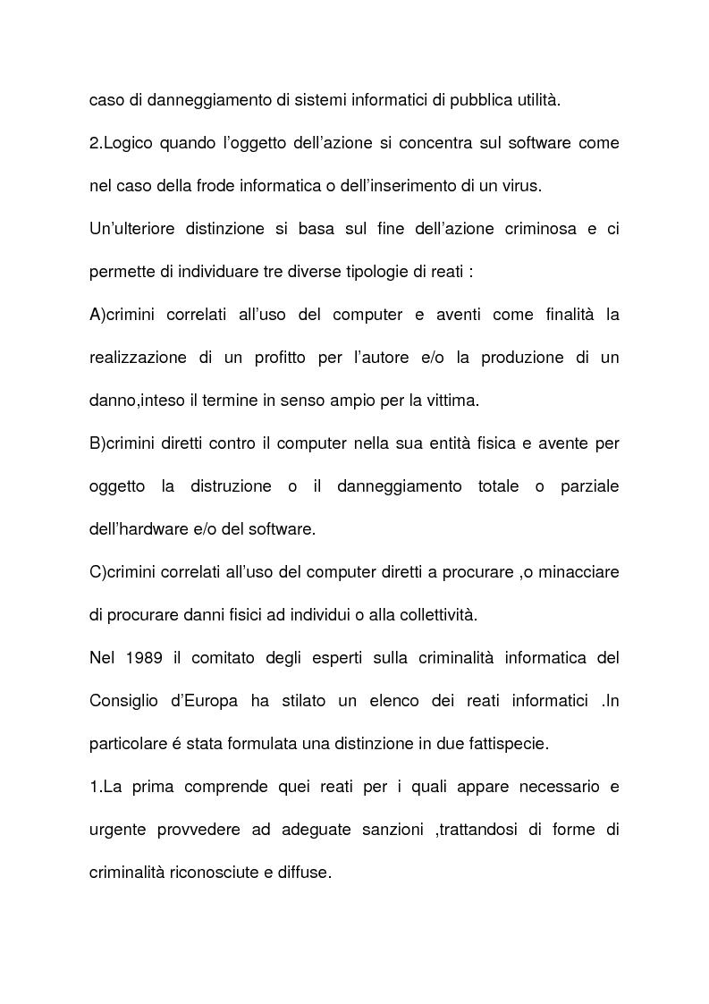 Anteprima della tesi: La criminalità informatica: cyberterrorismo, Pagina 14
