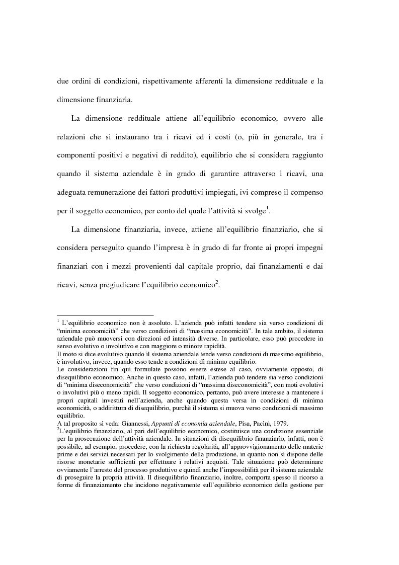 Anteprima della tesi: L'analisi della performance economico-finanziaria mediante software di gestione di fogli elettronici. Il caso della CTP s.p.a. di Napoli, Pagina 2