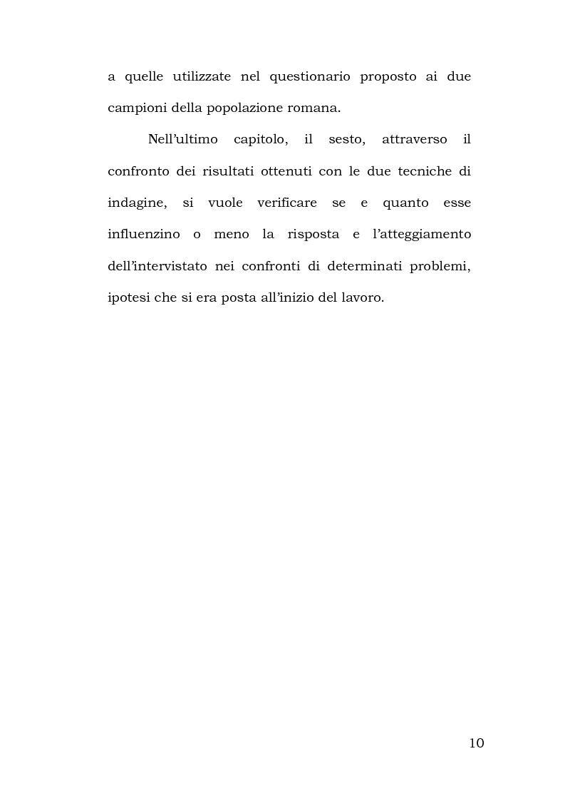 Anteprima della tesi: Confronto tra metodi di rilevazione in un'indagine sulla percezione della pericolosità, Pagina 6