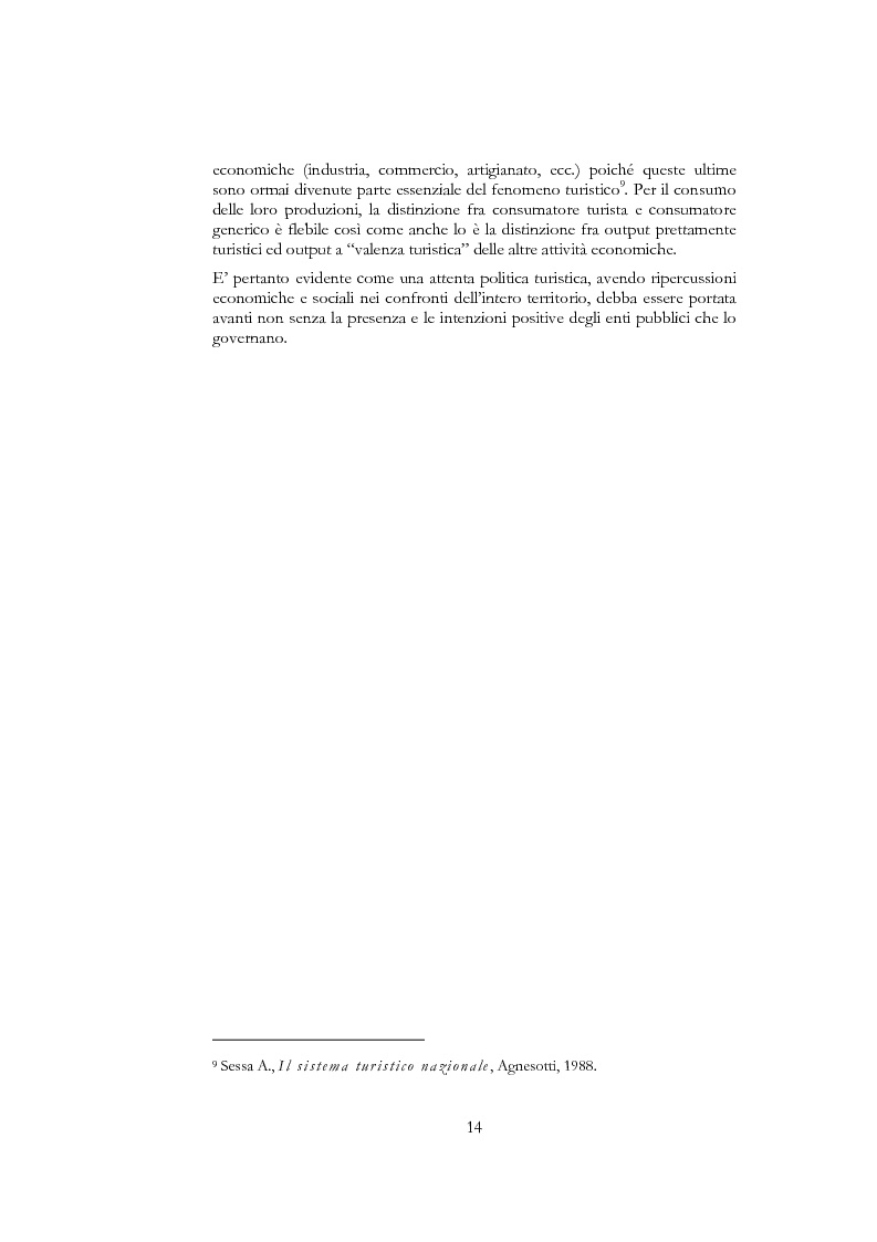Anteprima della tesi: Information and communication technologies e turismo. Destination management system ed aree naturali protette, Pagina 12