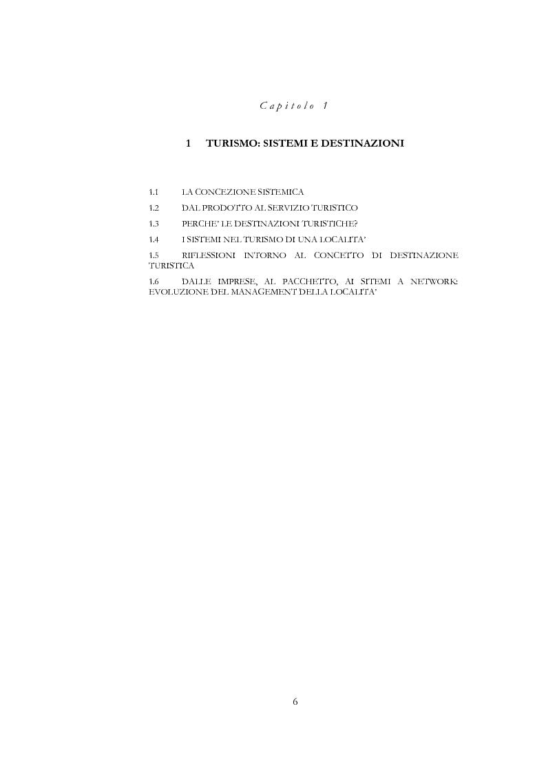 Anteprima della tesi: Information and communication technologies e turismo. Destination management system ed aree naturali protette, Pagina 4