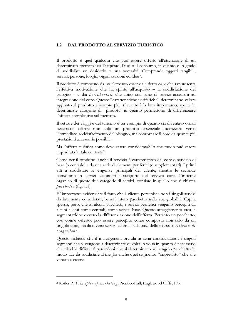 Anteprima della tesi: Information and communication technologies e turismo. Destination management system ed aree naturali protette, Pagina 7