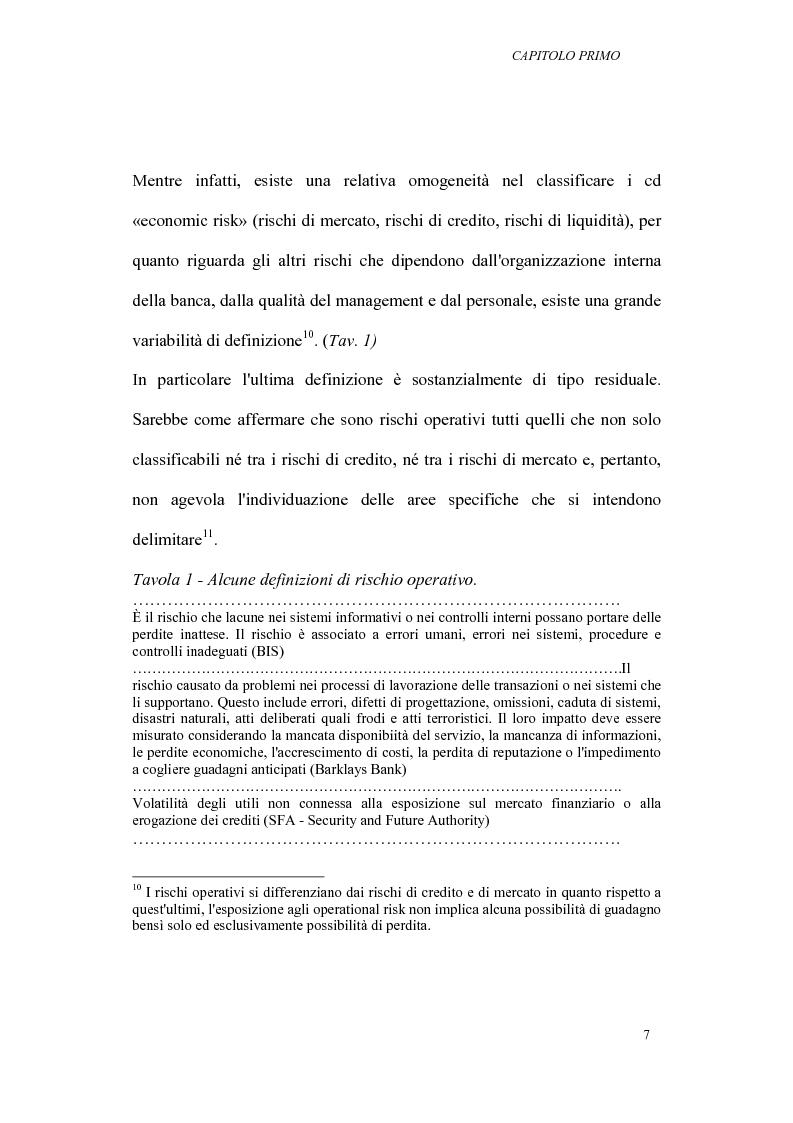 Anteprima della tesi: I rischi operativi nelle banche, Pagina 11