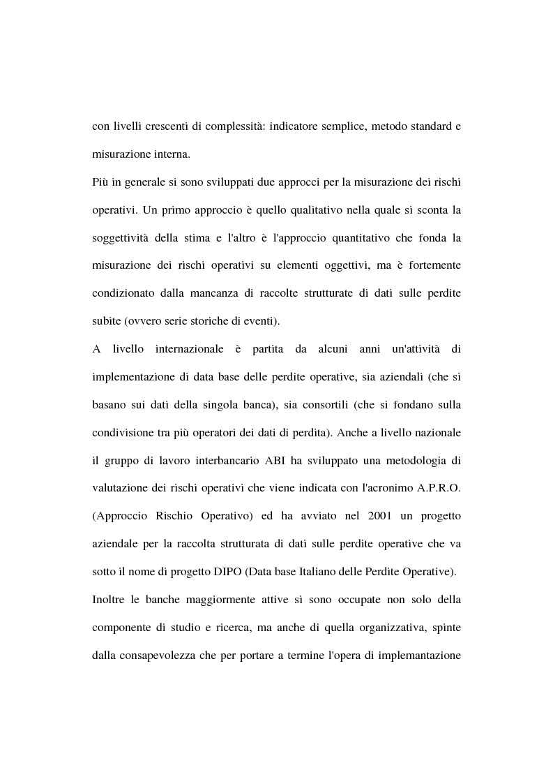 Anteprima della tesi: I rischi operativi nelle banche, Pagina 3
