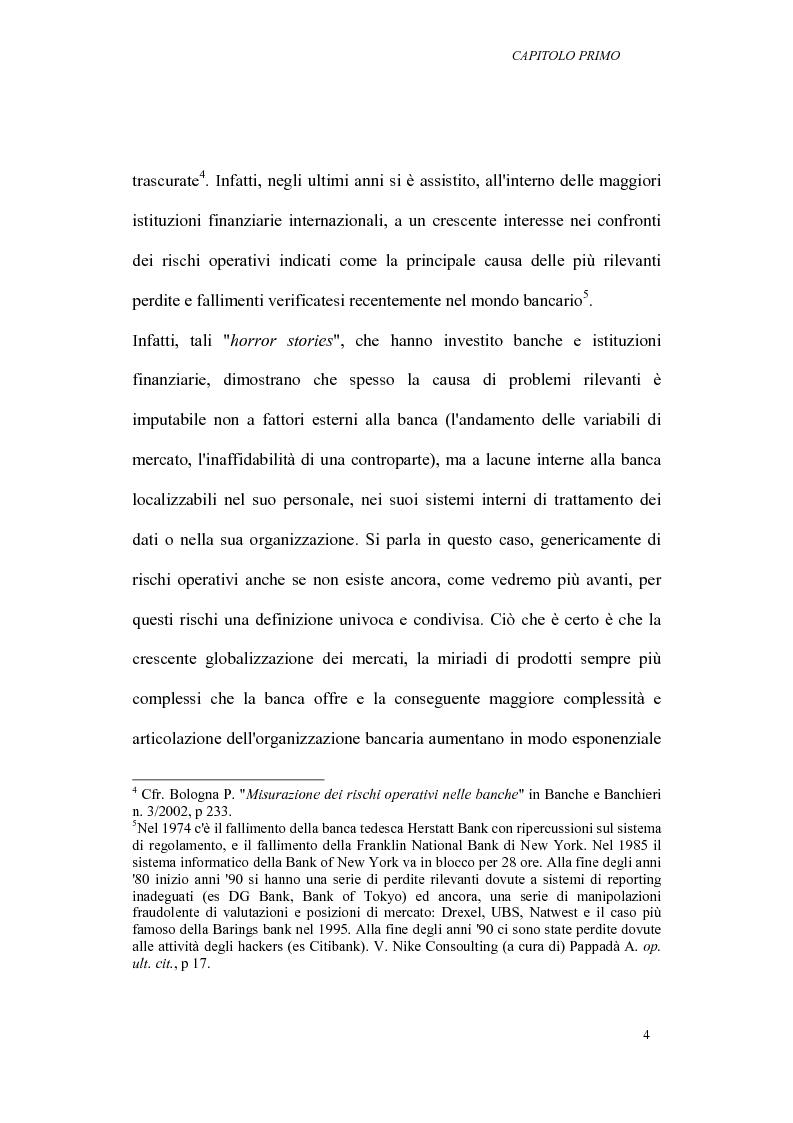 Anteprima della tesi: I rischi operativi nelle banche, Pagina 8