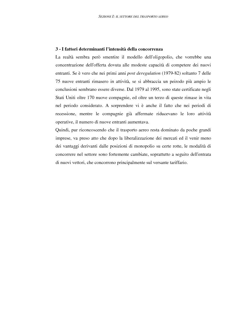 Anteprima della tesi: Le compagnie aeree ''low cost'' negli Stati Uniti ed in Europa. Le strategie competitive di costo dei vettori del futuro, Pagina 14