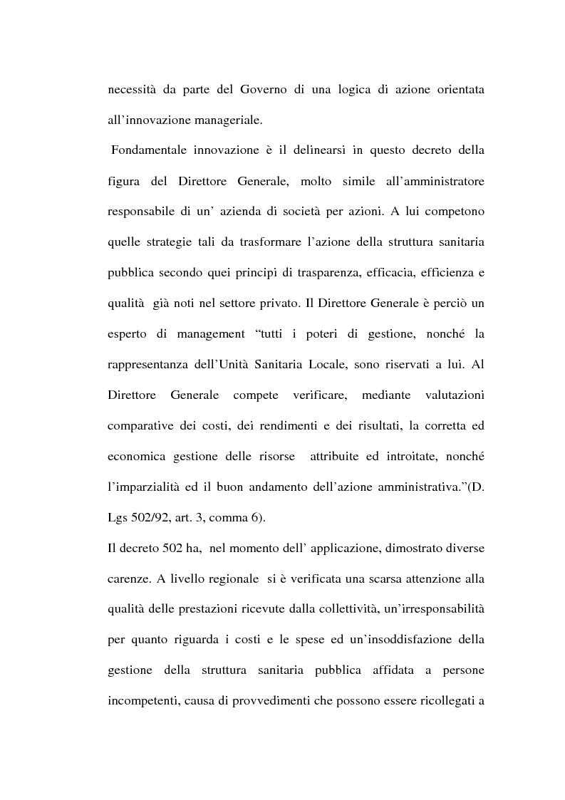 Anteprima della tesi: Organizzare i servizi alla persona. Il caso del P.O. di Maddaloni, Pagina 11