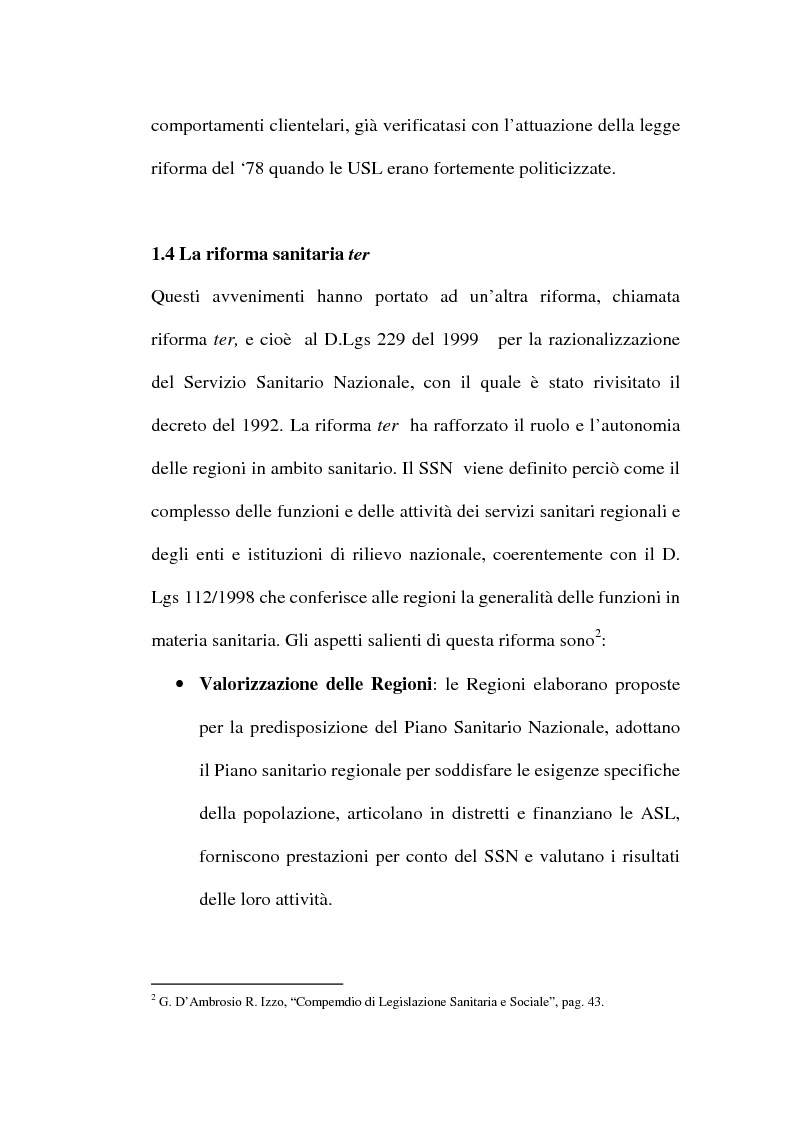 Anteprima della tesi: Organizzare i servizi alla persona. Il caso del P.O. di Maddaloni, Pagina 12