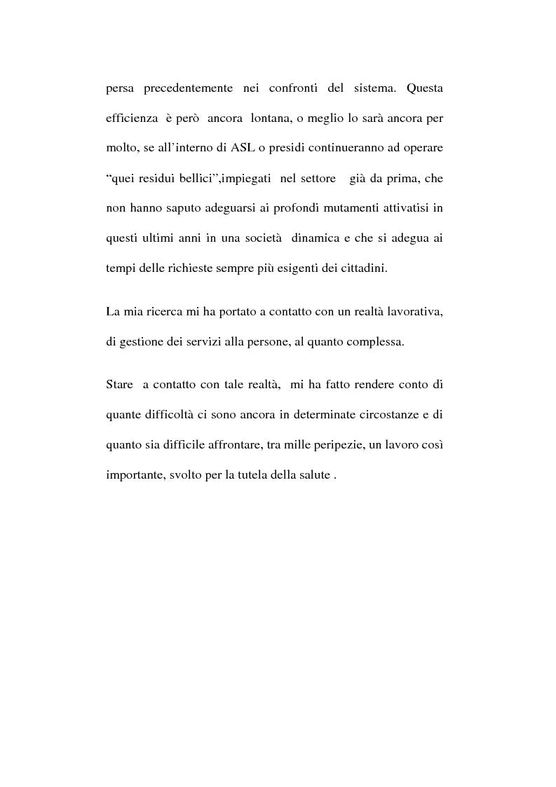 Anteprima della tesi: Organizzare i servizi alla persona. Il caso del P.O. di Maddaloni, Pagina 5