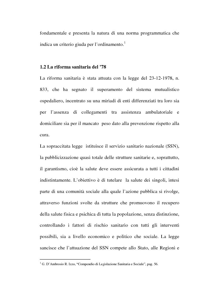 Anteprima della tesi: Organizzare i servizi alla persona. Il caso del P.O. di Maddaloni, Pagina 7