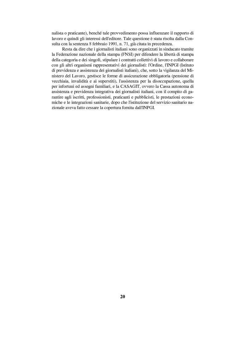 Anteprima della tesi: Diritto di cronaca e deontologia della professione giornalistica, Pagina 10