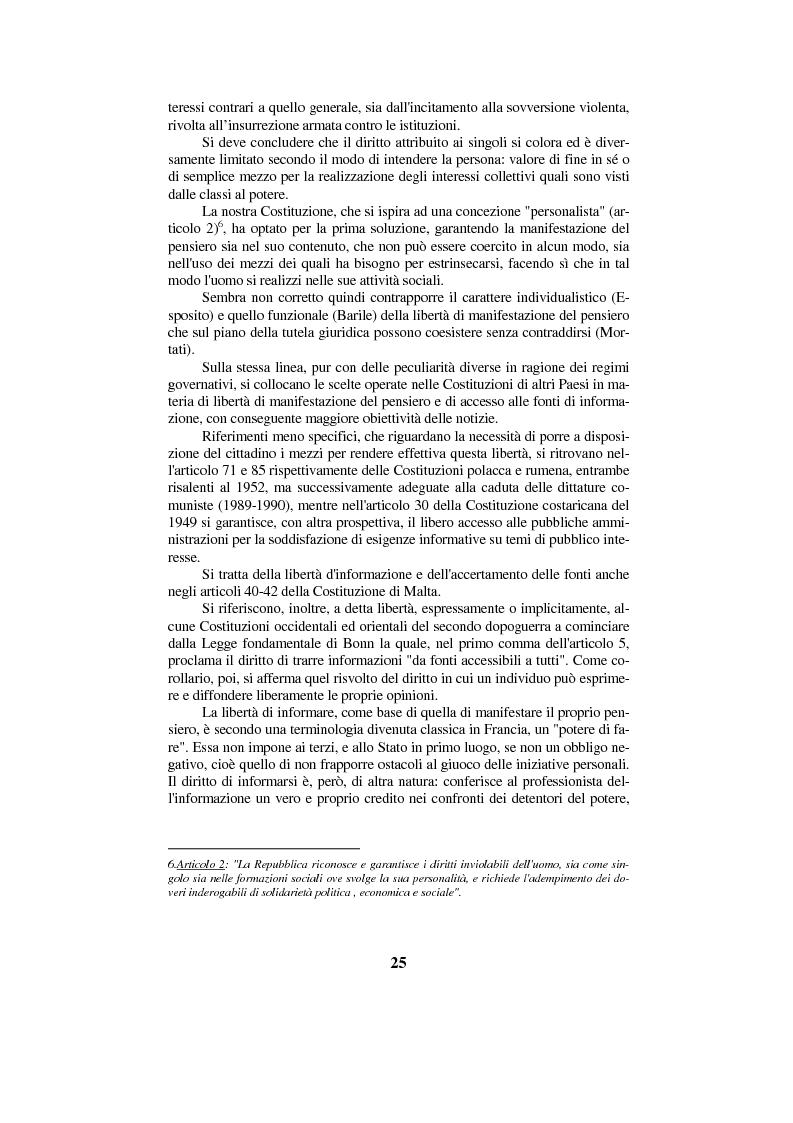 Anteprima della tesi: Diritto di cronaca e deontologia della professione giornalistica, Pagina 15