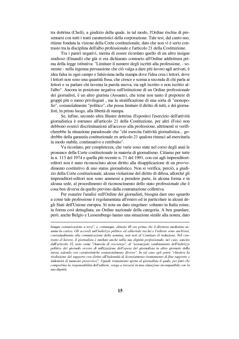 Anteprima della tesi: Diritto di cronaca e deontologia della professione giornalistica, Pagina 5