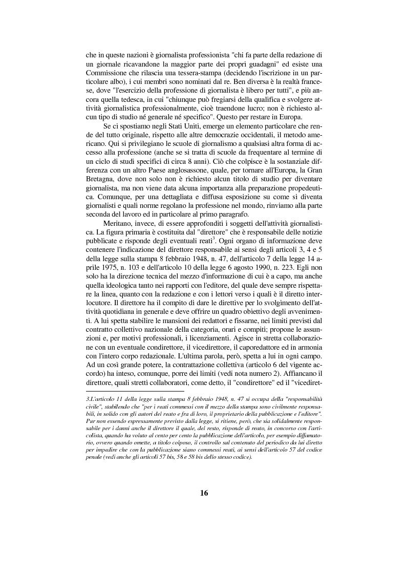 Anteprima della tesi: Diritto di cronaca e deontologia della professione giornalistica, Pagina 6