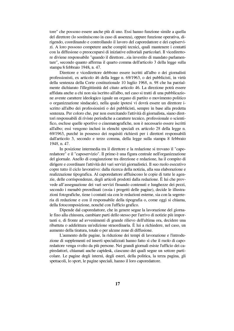 Anteprima della tesi: Diritto di cronaca e deontologia della professione giornalistica, Pagina 7