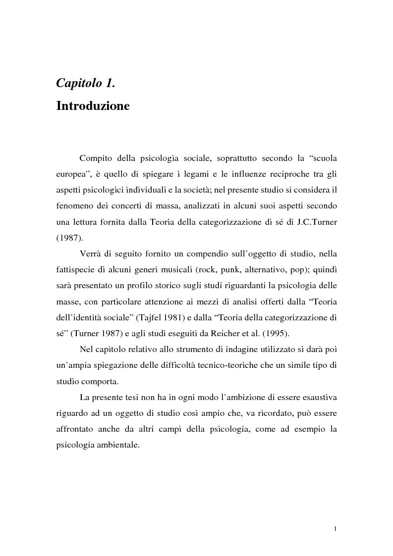 Anteprima della tesi: Processi di depersonalizzazione in un contesto di massa, Pagina 1