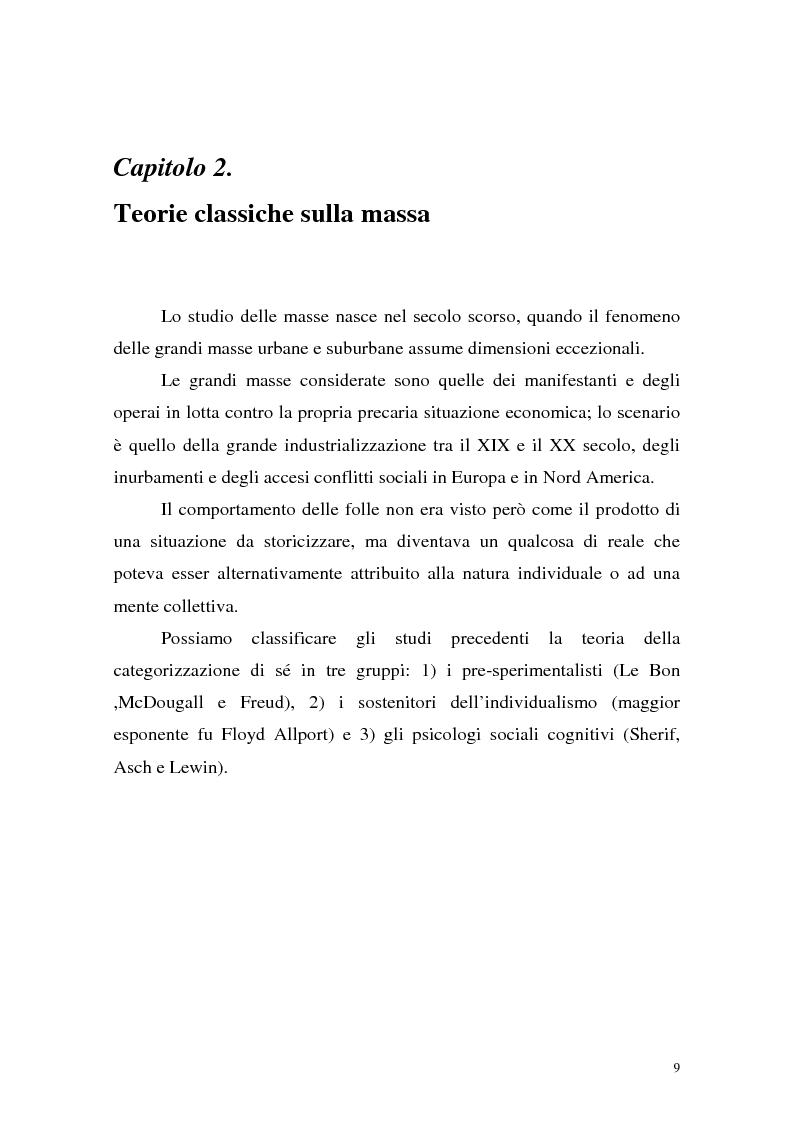 Anteprima della tesi: Processi di depersonalizzazione in un contesto di massa, Pagina 9