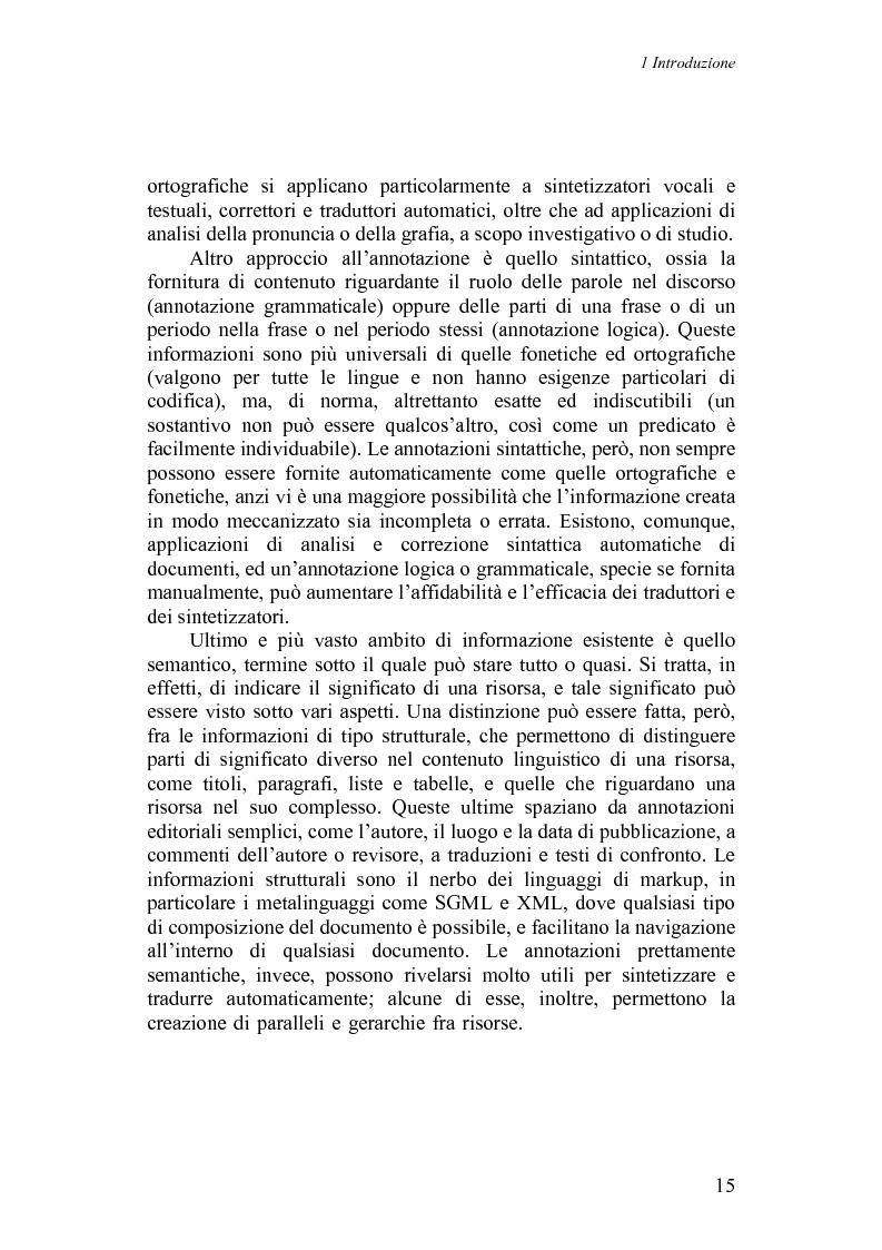 Anteprima della tesi: Annotazioni linguistiche: una rassegna, Pagina 10