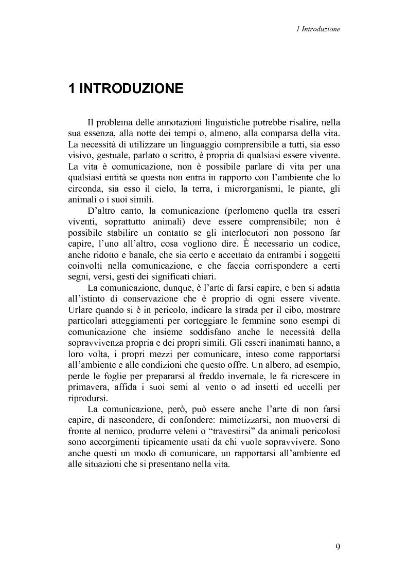 Anteprima della tesi: Annotazioni linguistiche: una rassegna, Pagina 4