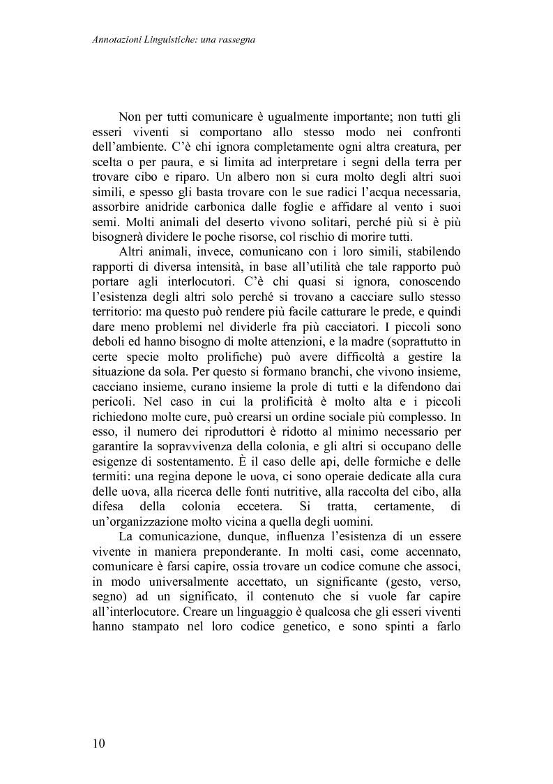 Anteprima della tesi: Annotazioni linguistiche: una rassegna, Pagina 5