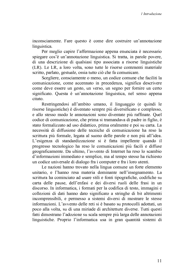 Anteprima della tesi: Annotazioni linguistiche: una rassegna, Pagina 6