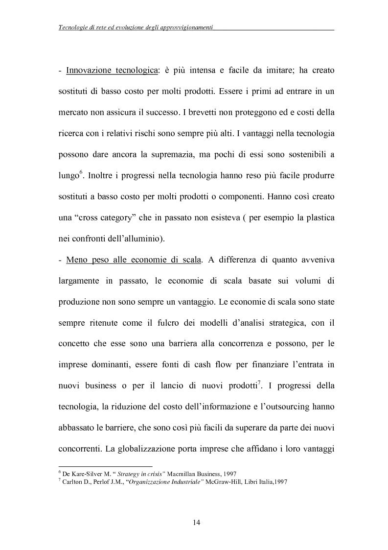 Anteprima della tesi: Tecnologie di rete ed evoluzione degli approvvigionamenti: l'e-procurement, Pagina 11