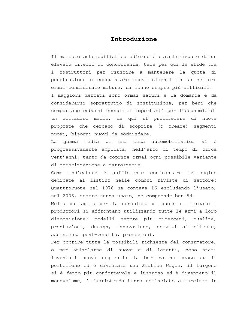 Anteprima della tesi: Costruzione e gestione della marca, Pagina 1